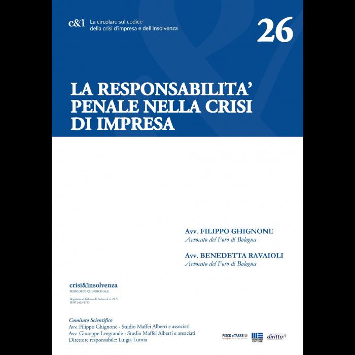 La responsabilità penale nella crisi d'impresa