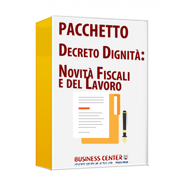 Decreto Dignità: Novità Fiscali e del Lavoro (2 eBook)