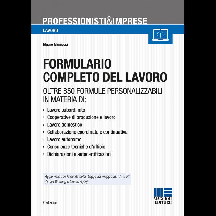 Formulario completo del lavoro (Libro)