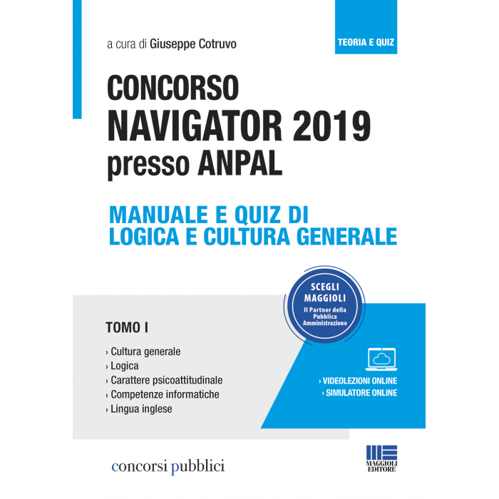 Concorso NAVIGATOR 2019 presso ANPAL: Manuale e Quiz
