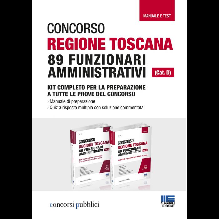 Concorso Regione Toscana 89 Funzionari - KIT completo