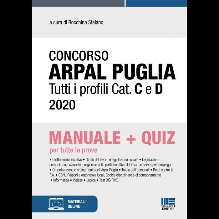 Concorso ARPAL Puglia Tutti i profili Cat. C e D 2020