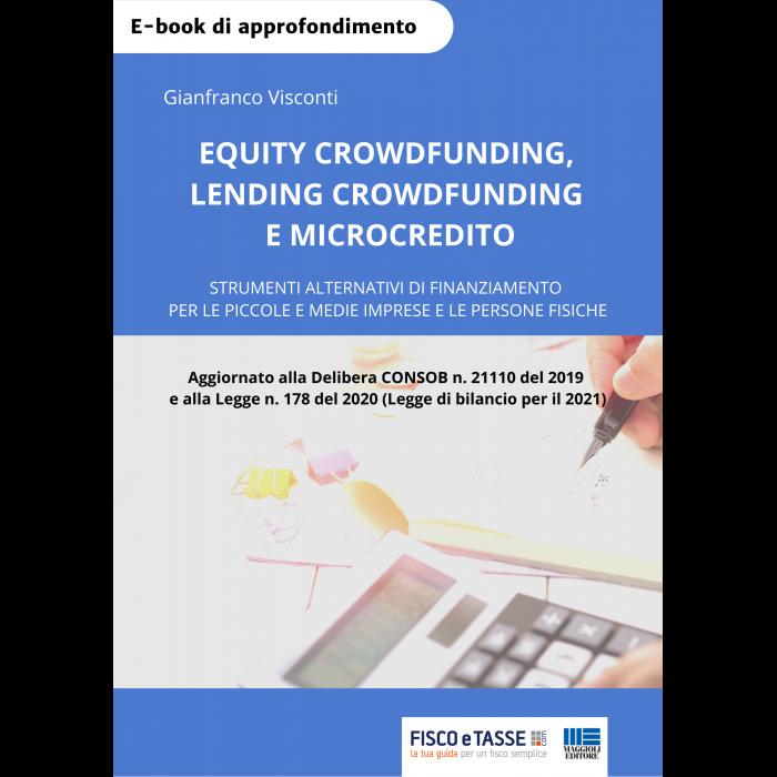 Equity crowdfunding. Lending crowdfunding. Microcredito
