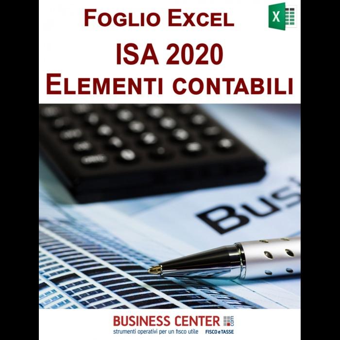 Elementi contabili ISA 2020 (Excel)