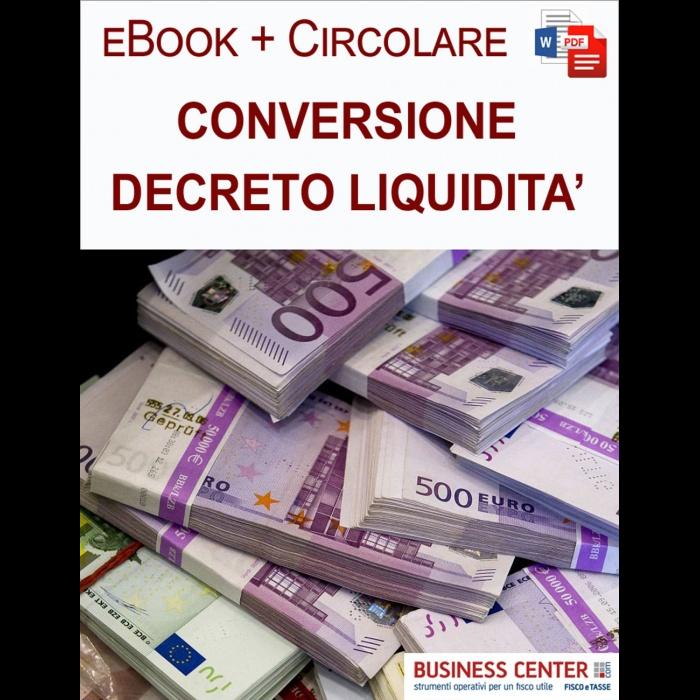 Conversione Decreto Liquidità eBook + Circolare clienti