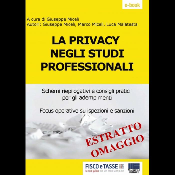 La Privacy negli studi professionali (Estratto eBook)
