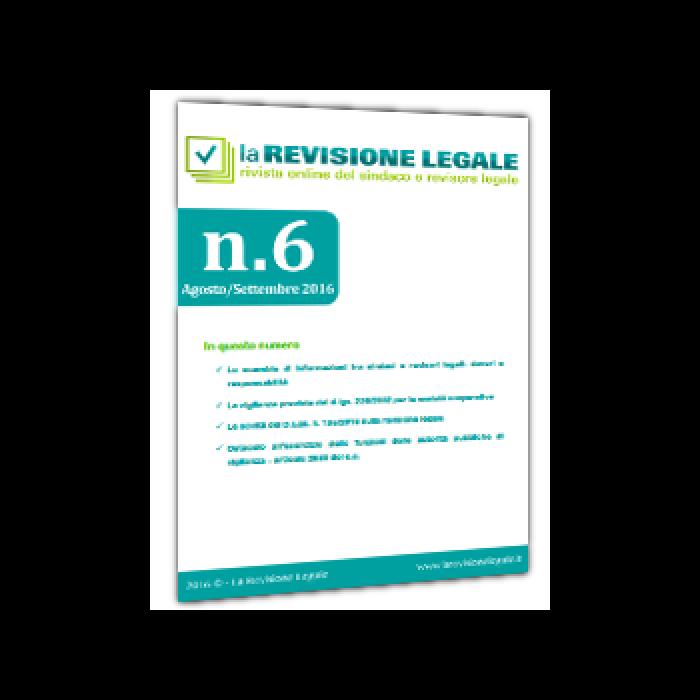 La Revisione Legale - n. 6/2016
