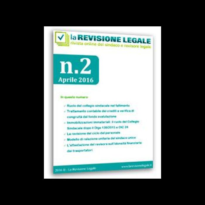 La Revisione Legale - n. 2/2016