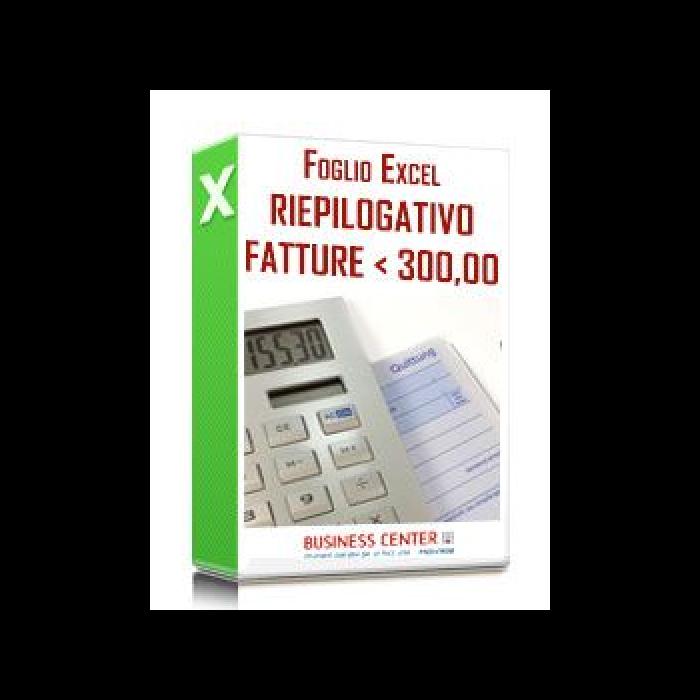 Documento Riepilogativo Fatture inferiori a 300 euro