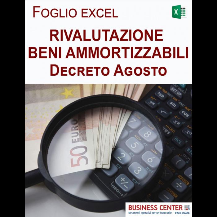 Rivalutazione beni ammortizzabili DL 104/2020 (Excel)