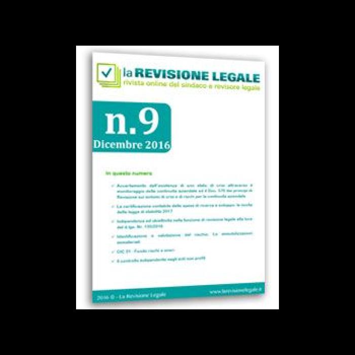 La Revisione Legale - n. 9/2016