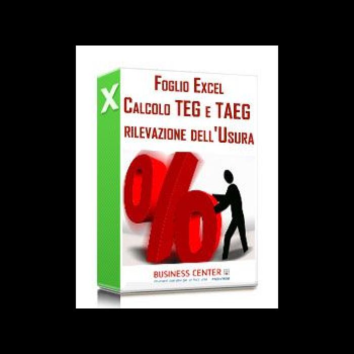 TEG e TAEG per la rilevazione dell'usura (excel)