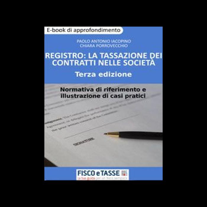Registro: la tassazione dei contratti nelle società