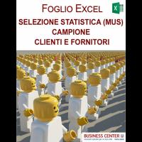Selezione statistica (MUS) campione clienti e fornitori
