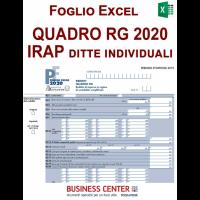 Quadro RG e Irap 2020 ditte individuali in semplificata